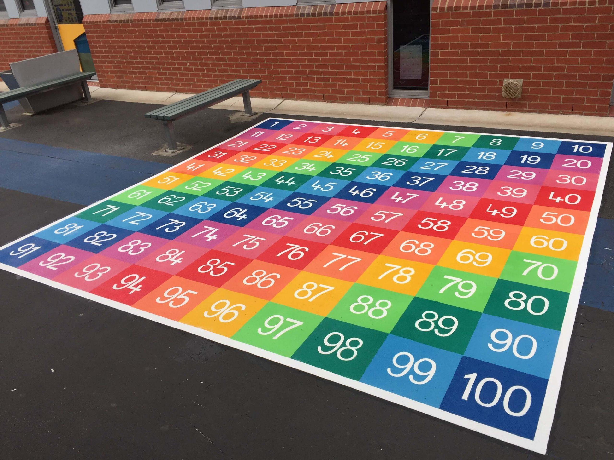 Number Grid 1-100 Large Full Solid