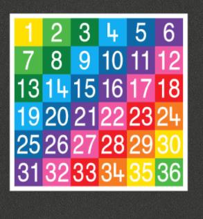 Number Grid 1-36