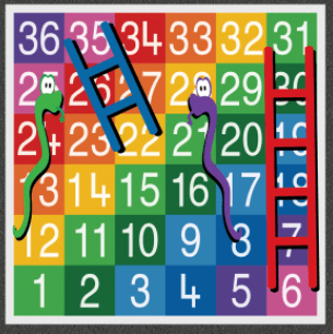 Snakes and Ladders 1-36 Small Full Solid